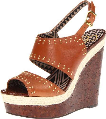 Jessica Simpson Geno Leather Womens Platforms & Wedges
