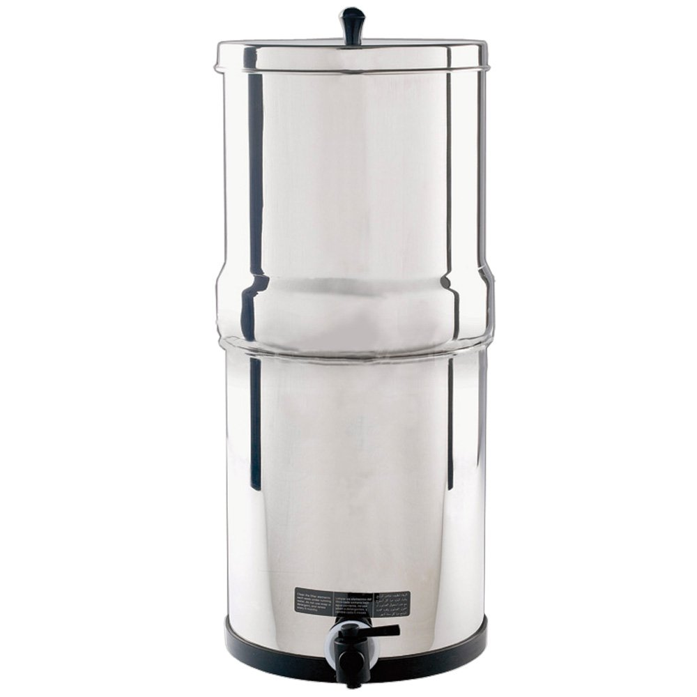 Aquacera Pioneer SS Gravity Water Filter with 2 7 inch CeraMetix Filters