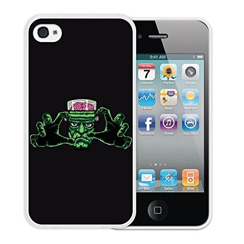 WoowCase Hülle Case für { iPhone 4 iPhone 4S } Handy Cover Schutzhülle Frankenstein Monster