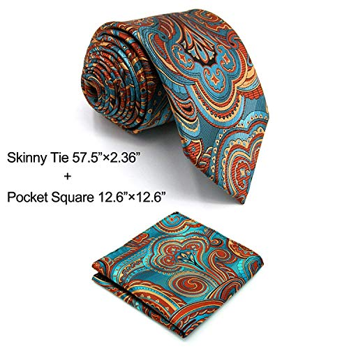 Shlax&Wing Geometric Multicolored Mens Ties Silk Necktie Wedding Patterned by S&W SHLAX&WING