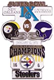 Super Bowl IX Oversized Commemorative Pin