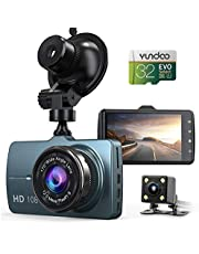 "$54 » Dash Cam Front and Rear Car Camera, 1080P 3.2"" Dashboard Camera with 32GB SD Card, 170°Wide Angle, Night Vision Dashcam for Cars, Driving Recorder with G-Sensor, Loop Recording"