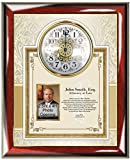 Custom Attorney Poetry Passing the Bar or Law School Graduation Gift - Gift Clock Picture Frame - 2.5W X 4H Photo Opening Overall Plaque Size 14.5W X 17H - Item LAW-PGC4