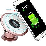 Galaxy S7 Charging Pad , Welcomeuni Qi Wireless Charger Dock Car Holder Charging Pad For Galaxy S7 , Galaxy S7 Edge , LG (Rose Gold)
