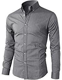 Mens Casual Slim Fit Button Down Dress Shirts Various Styles