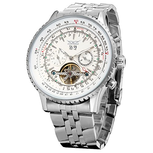 Forsining Men's Automatic Tourbillon Complete Calendar Wrist Watch JAG034M4S1 ()