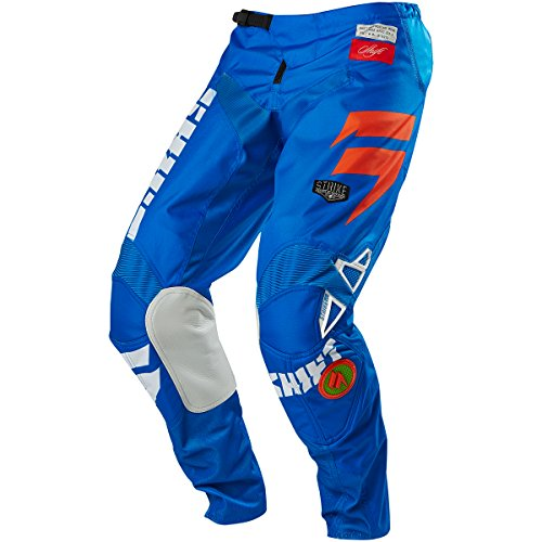 Shift Racing Strike Men's Off-Road Motorcycle Pants - Blue/Green/Size 34 by Shift (Image #3)