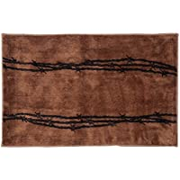 Western Barbwire Kitchen and Bath Rug, Tan 24 x 60