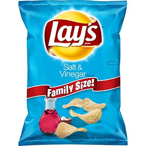 Lay's Salt & Vinegar Flavored Potato Chips, 7.75 Ounce]()