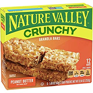 Nature Valley Granola Bars Crunchy Peanut Butter, 8.94 oz (Pack of 6)