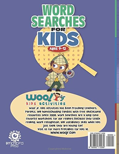 Word Search for Kids Ages 9-12: Reproducible Worksheets for ...