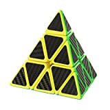 Twister.CK Pyraminx Pyramid Speed Cube with Carbon Fiber Sticker,4-side Pyramid Cube(3x3)Turns Quicker and Smoother,Made of Friendly ABS Plastic Material,Super Durable,Pyraminx Pyramid Speed Cube.