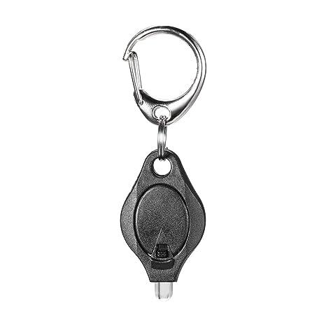 sourcing map Mini Llavero LED Linterna de luz negra incluye ...