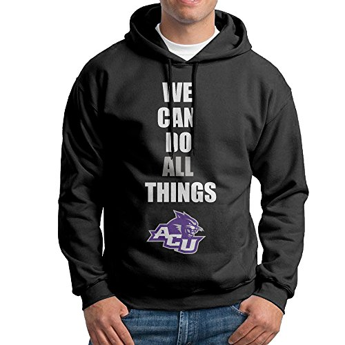 AUGU Men Abilene Christian University Wildcats Hooded Sweatshirt - Shops Airport Brisbane