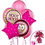 1st Birthday Owl Party Look Whoo's 1 Pink Balloon Bouquet