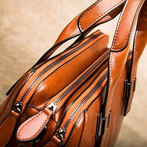 Y 13 Messenger YT brown 26 Cuero 35 Bolsos Mano Bandolera Cuero cm Solo Bandolera qr0qCv