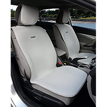 Sojoy Universal Breathable Isothermal Car Seat Cover Cushion for Front 2 Seats (Mid-Sized Cover Set) (Gray)
