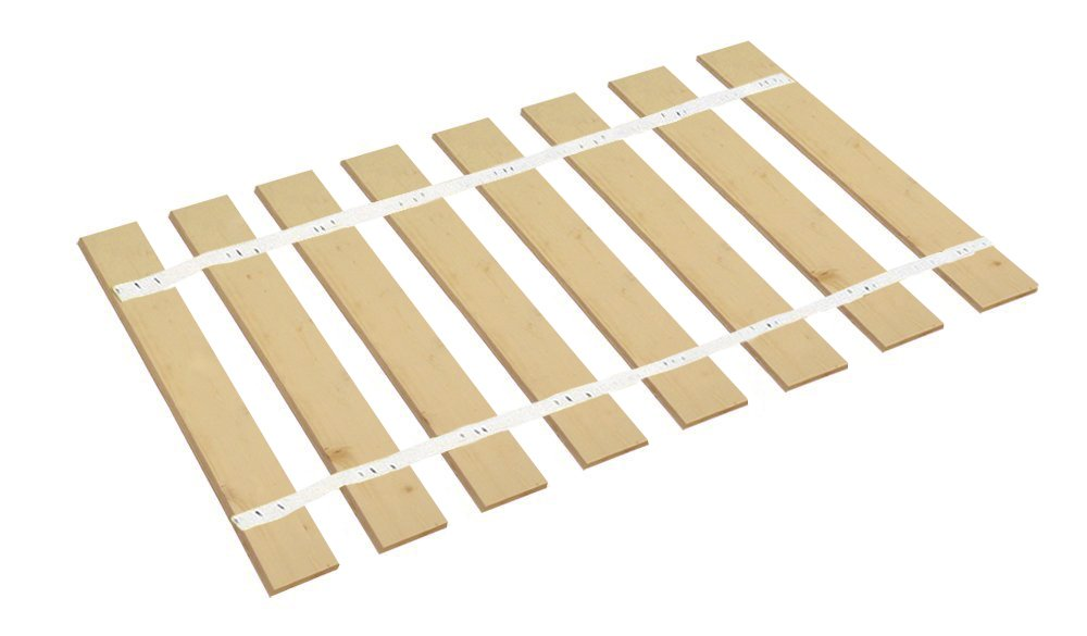 The Furniture Cove Full Size Bed Slats Boards Wood Foundation White Strapping-Help Support Your Box Spring Mattress-Made in the U.S.A.! (52.75'' Wide) by The Furniture Cove