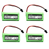 BT-1021 BBTG0798001 BT-1008 BT-1016 Replacement Battery for Uniden Cordless Phone D1785 D1680 D1760 D1788 D3097 D3098 D1780 DWX207 DCX200 DCX160 Handset Telephone (4-Pack)