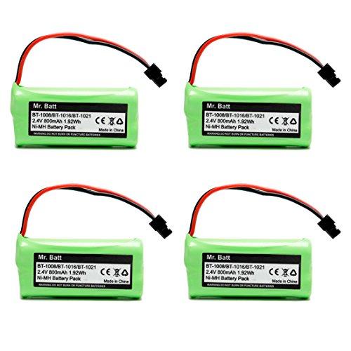 BT-1021 BBTG0798001 BT-1008 BT-1016 Replacement Battery for Uniden Cordless Phone D1785 D1680 D1760 D1788 D3097 D3098 D1780 DWX207 DCX200 DCX160 Handset Telephone (4-Pack) by Mr.Batt