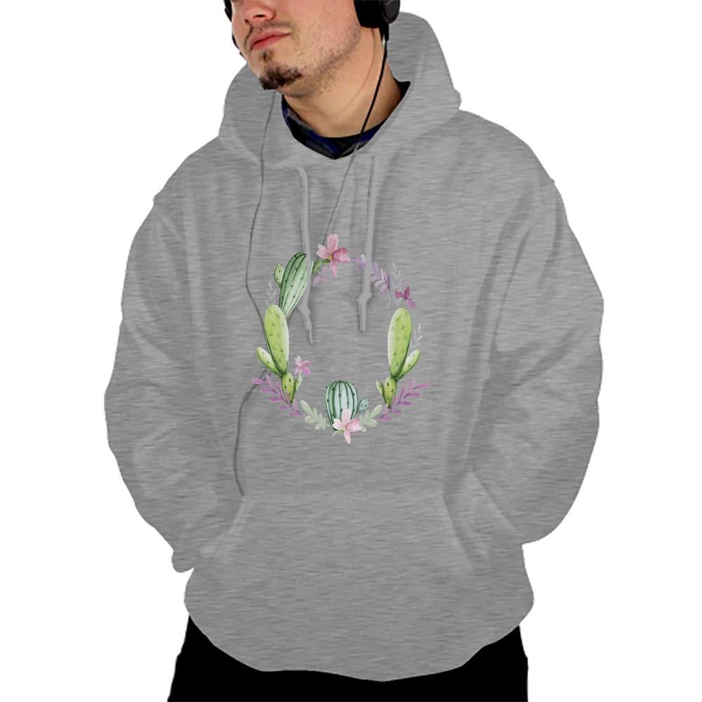 HuangQiang Flower Cool Men Hooded Sweashirt Graphic Jacket Sweatshirt with Pockets