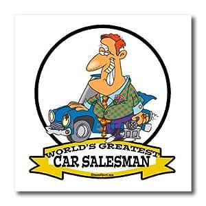 ht_103018_3 Dooni Designs Worlds Greatest Cartoons - Funny Worlds Greatest Car Salesman II Occupation Job Cartoon - Iron on Heat Transfers - 10x10 Iron on Heat Transfer for White Material