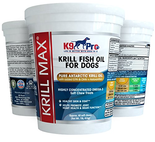 Krill max fish oil for dogs soft moist tasty 350mg omega for Dog food with fish oil