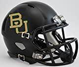 BAYLOR BEARS NCAA Riddell Revolution SPEED Mini Football Helmet (MATTE BLACK)
