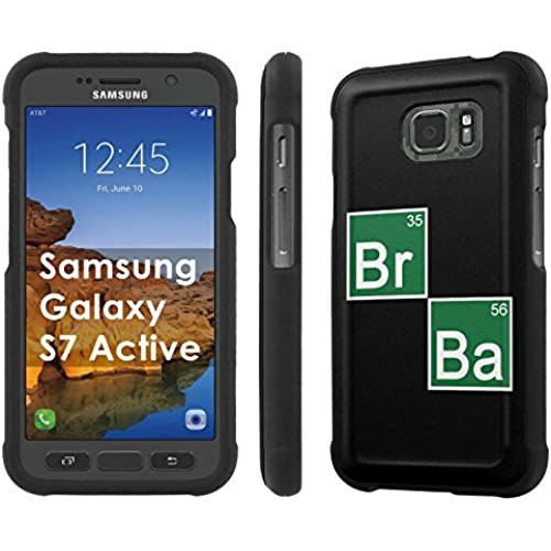 AT&T [Galaxy S7 Active] [5.1 Screen] Armor Case [NakedShield] [Black] Total Armor Protection [Shell Snap] + [Screen Protector] Phone Case - [Chemical] for Samsung Sales