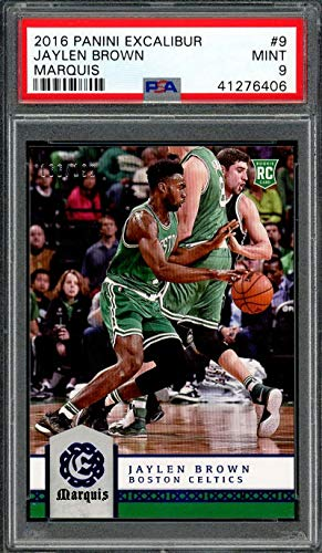 2016-17 panini excalibur marquis #9 JAYLEN BROWN boston celtics rookie PSA 9 Graded Card