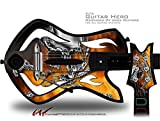 Chrome Skull on Fire Decal Style Skin - fits Warriors Of Rock Guitar Hero Guitar (GUITAR NOT INCLUDED)