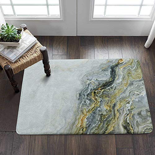 Lahome Marble Area Rug - 2' X 3' Faux Wool Non-Slip Area Rug Small Accent Distressed Throw Rugs Floor Carpet for Door Mat Entryway Bedrooms Laundry Room Decor (2' x 3', Marble) ()