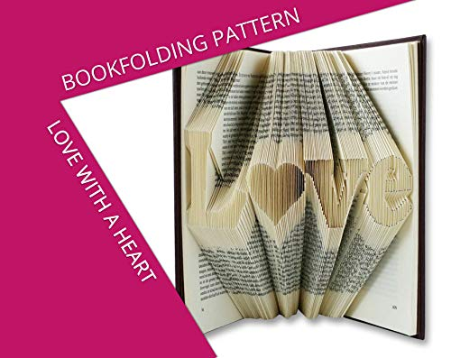 Love with a heart Book folding pattern from Folded Book Art