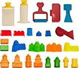 CoolSand Building Sand Molds and Tools Kit - Works with all other Play Sand Brands - 27 Pieces Includes: Castle, Bricks and walls Molds, and Tools - Sand Not Included