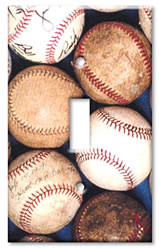 Art Plates Baseballs (Art Plates - Old Baseballs Switch Plate - Single Toggle)