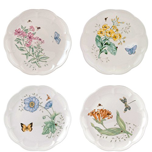 Lenox Butterfly Meadow Accent Plates, Assorted Set of 4