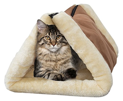 Suede Kitty (PETMAKER Convertible, Plush, Cozy, Thermo-Reflective Kitty Hut)