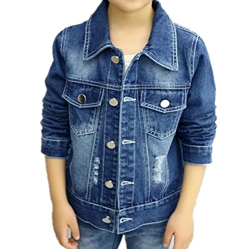 388f9b904 Jual Oushiny Unisex Kids  Ripped Denim Jacket Cute Kids  Outerwear 5 ...
