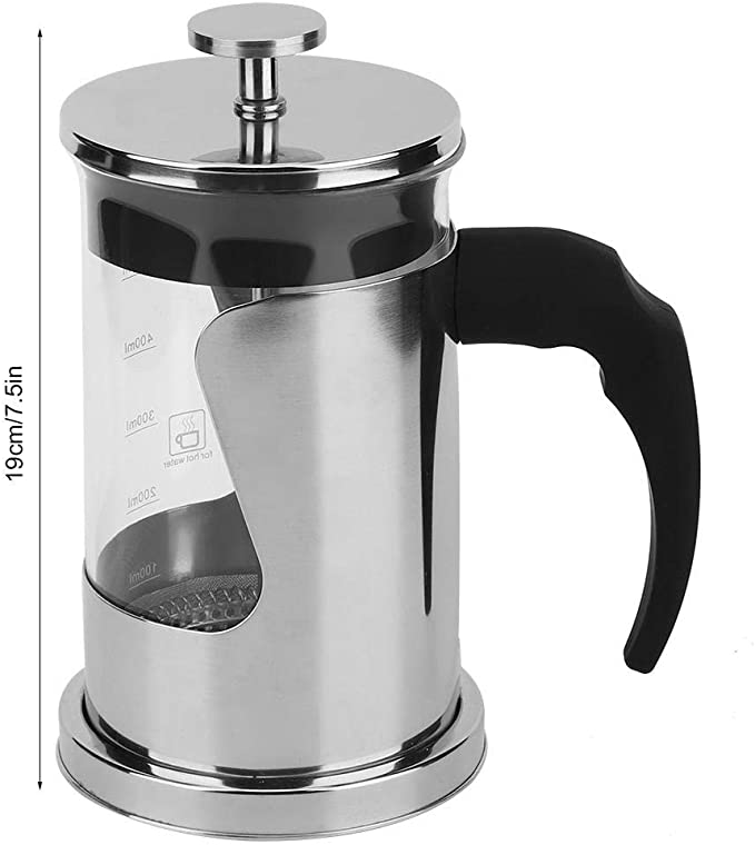 Amazon.com: Stainless Steel French Press Coffee Maker, 600ml ...