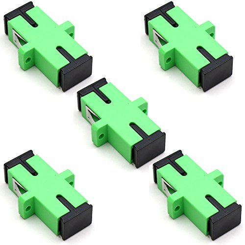 TEZONG SC Coupler Fiber Patch Adapter SC/APC to SC/APC Singlemode Fiber Optic connector 5 Pack ()