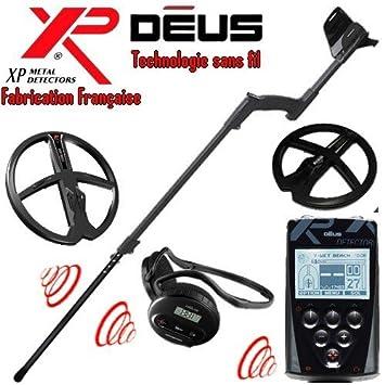 XP Metal Detectors – Detector de metales Deus Full 2 discos – tecnología inalámbrica – Mando