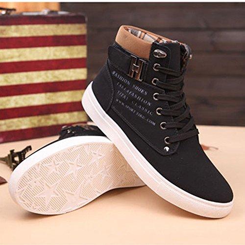 Casuales Sneakers 2018 Toamen Altos Negro Zapatos Zapatos para Hombres WqqUYEwp