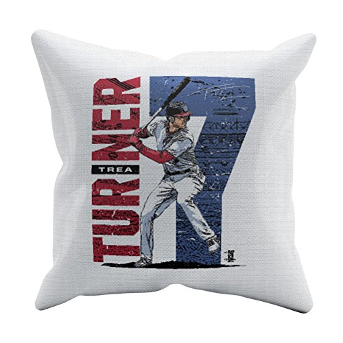 (500 LEVEL Trea Turner Washington Baseball Throw Pillow - 18