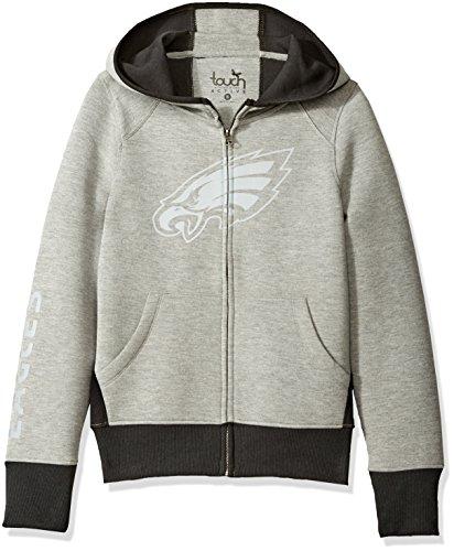 Eagle Full Zip Hoodie - NFL Philadelphia Eagles Women's Rush Full Zip Hoodie, X-Large, Heather Grey