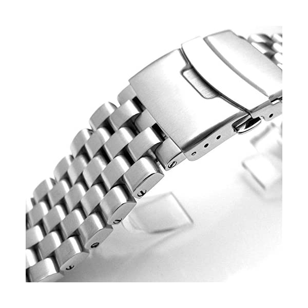 22mm-Brushed-Engineer-Solid-Link-316l-Stainless-Steel-Watch-Bracelet-Band