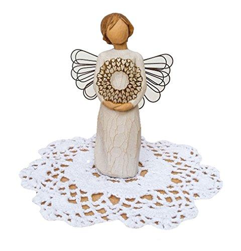 Willow Tree Angel Figurine with Westbraid Doily ()