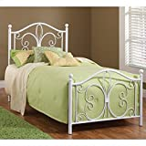Hillsdale Furniture 1687BFR Ruby Bed Set with Rails, Full, Textured White