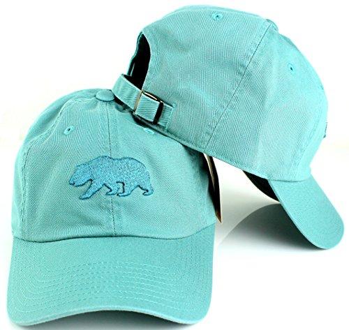 American Needle Baseball Cap - Cali Bear American Needle Tonal Ballpark Slouch Cotton Twill Adjustable Hat (Mineral)