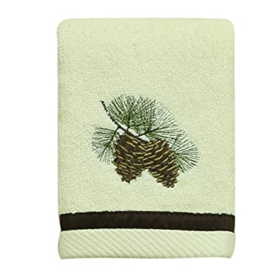 Bacova Guild Westlake Fingertip Towel - Made from terry Cotton with an Applique and embroidered design with a fabric trim Matching Hand and bath towels Matching Westlake bath Accessories also available - bathroom-linens, bathroom, bath-towels - 51afHhEjolL. SS400  -