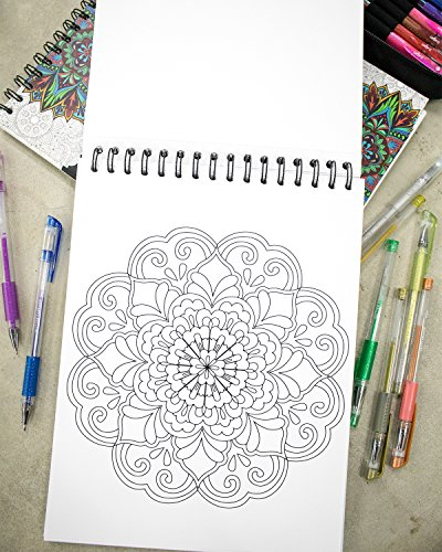 Mandala Coloring Book For Adults With Thick Artist Quality Paper Hardback Covers And Spiral